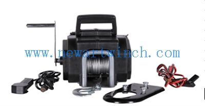Remote Cable 3.0m Anchor 3500 Lb Boat Winch , 12V Portable Electric Winch