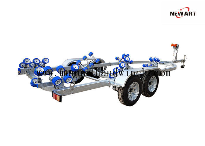 Heavy Duty Dual Axle Boat Trailer , 8650X2500 MM 5280 Lb Jet Ski Trailer
