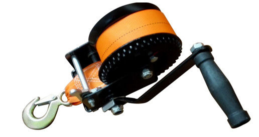 Single Speed 1000 Lb Manual Hand Winch , Carbon Steel Structure Portable Manual Winch