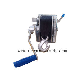 Chiny Boat Trailer Boat Hand Winch With Strap, 1000kg Small Industrial Hand Winch fabryka